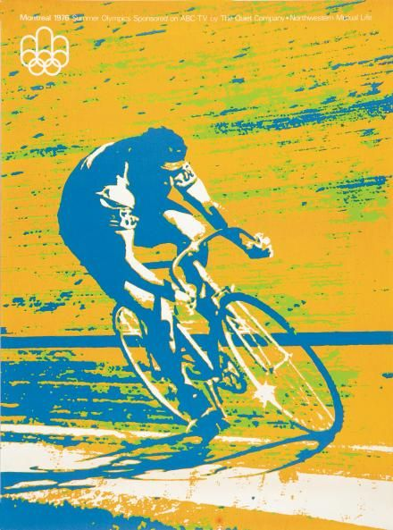1976 Montreal Olympic cycling poster