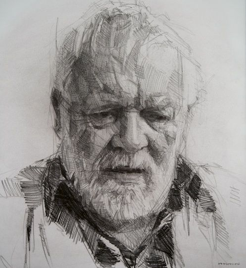 Colin Davidson - Michael Longley, drawing
