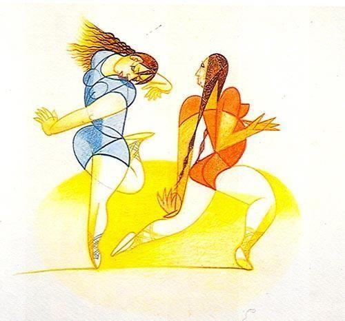 «Bailarinas»   José de Almada Negreiros (1873 - 1970 )
