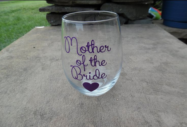 Mother Of The Bride  Wine Glass, Bridal Party Wine, Personalized Wedding Wine Glass, Wedding Wine Glasses by SiplySophisticated on Etsy