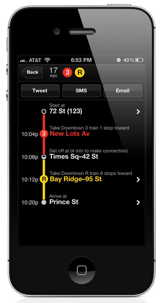 Embark minimizes time spent on the app, streamlining A-to-B navigation with its offline functionality.