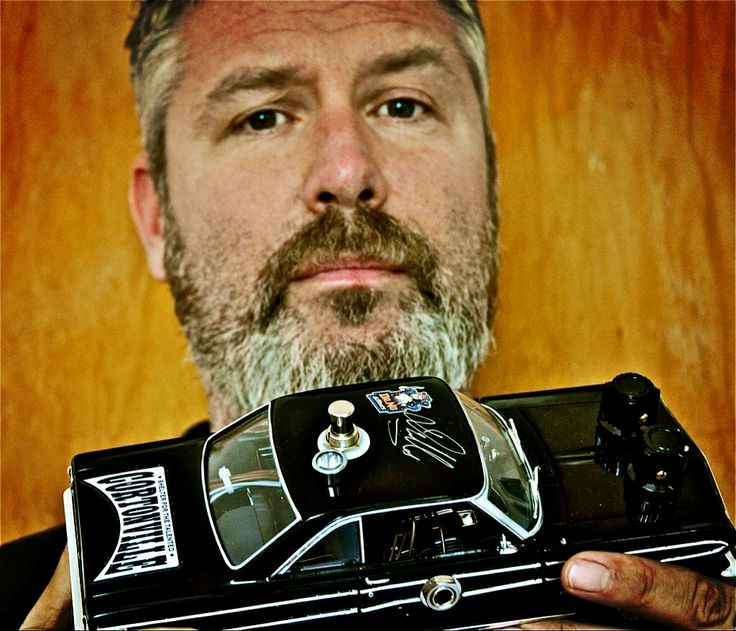 Eric Corton With Dr.No's Ford Falcon Fuzz, custom and limited build for Cortonville.