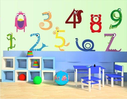 Wandtattoo Kinderzimmer No.KK5 Tierzahlen