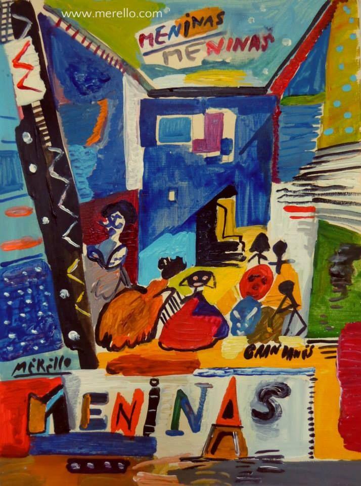 """LAS MENINAS Jose Manuel Merello.- """"Las Meninas."""" Arte contemporáneo. Pintores españoles actuales. Arte actual siglo 21. Pintura moderna. Comprar cuadros de pintores contemporaneos. México, Miami, Madrid. Arte, Lujo e Inversión. Invertir en Arte. http://www.merello.com"""