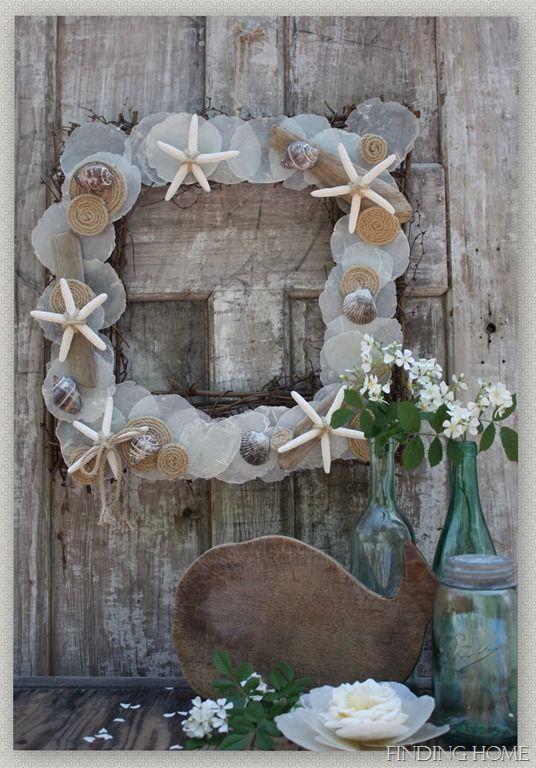 summer seashell wreath