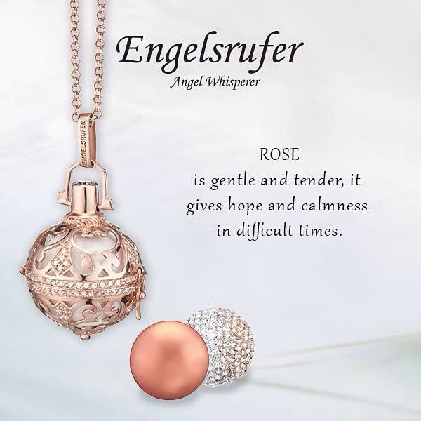 From engelsrufer_uk_ireland - Rose is gentle and tender it gives hope and calmness in difficult times. #Rose #StoneSet #Jewelelry #RoseGold #Soundball #Whisperer