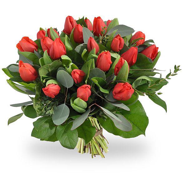 Rode tulpen te bestellen bij Boeketten.nl