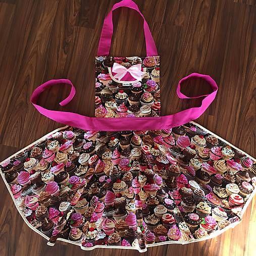 HEDERVIGA / PAT Style Muffinová zástera z americkej bavlny..skladom!