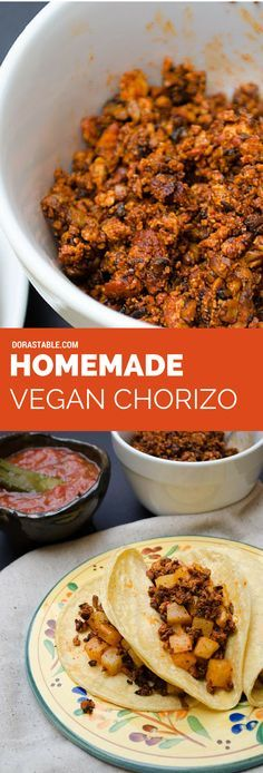 Homemade vegan chorizo. This is the only recipe you will ever need. It is spicy and crumbly, with notes of clove and coriander. – More at http://www.GlobeTransformer.org