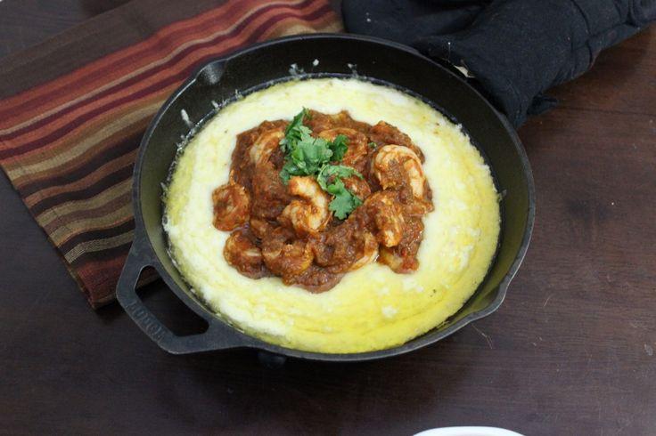 Queso flameado with Chipotle ranchera shrimp salsa