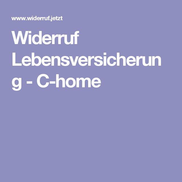 Widerruf Lebensversicherung - C-home