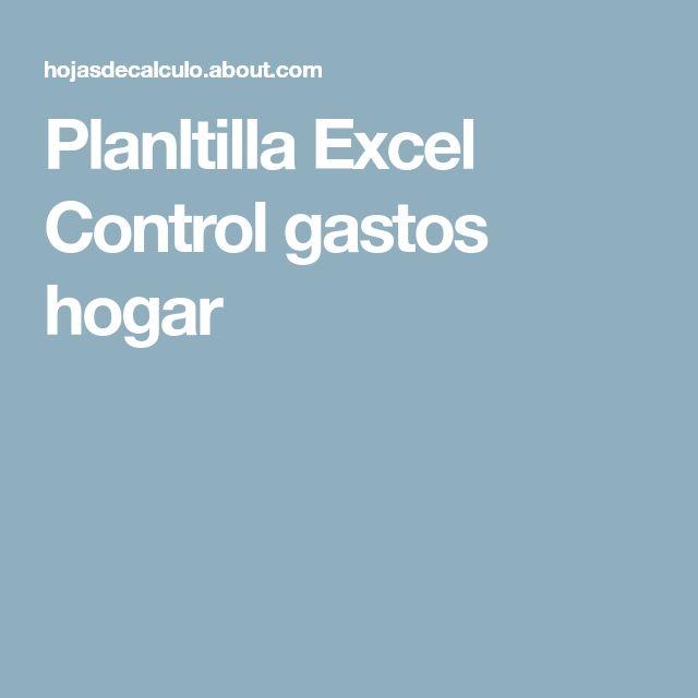 Planltilla Excel Control gastos hogar