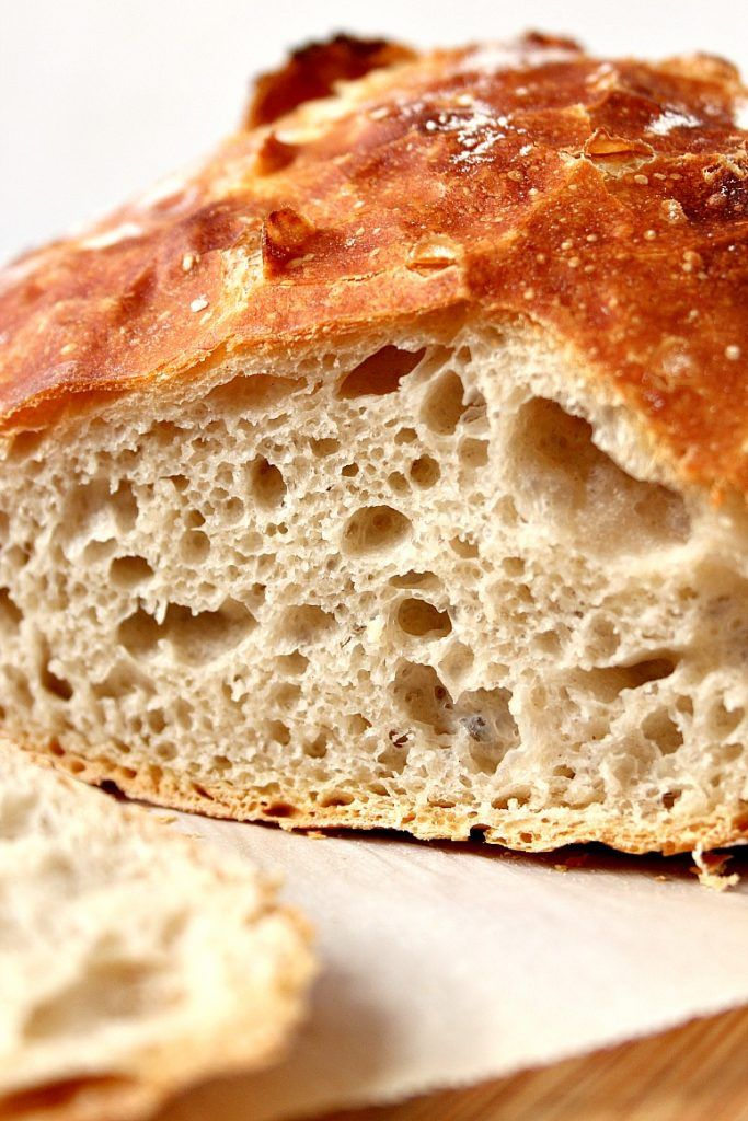 No-Knead Bread recipe - the best and easiest way to make a perfect sourdough bread at home! No kneading needed!