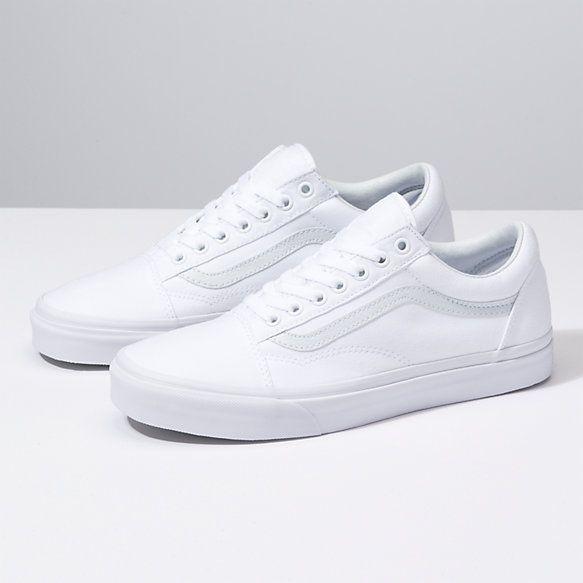 girls all white vans