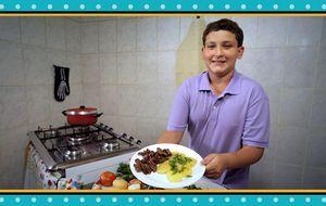 Família Pinheiro desafia Claude Troisgros a preparar o prato. Anote a receita