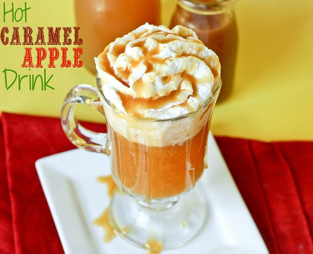Hot Caramel Apple Drink: Drinks Hot, Holiday, Hot Caramel, Drinks Non Alcoholic, Sweet, Beverages, Hot Drinks, Caramel Apples