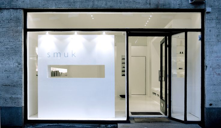 Facade of the Smuk beauty shop by Danish architects Norm.Architecture.
