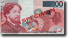 James Ensor prijkt op het laatste Belgische bankbiljet van 100 frank