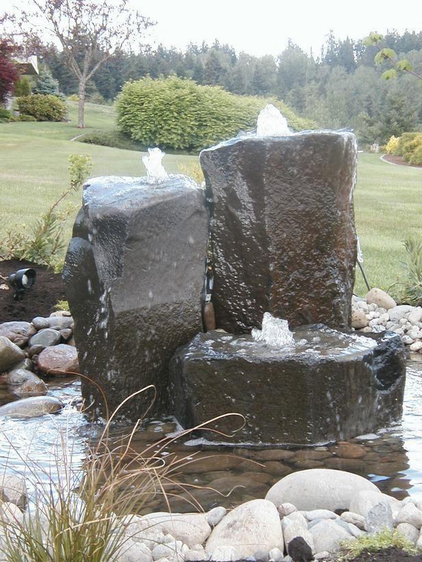 Stone Water Features Water Features In The Garden Outdoor Water Features Backyard Water