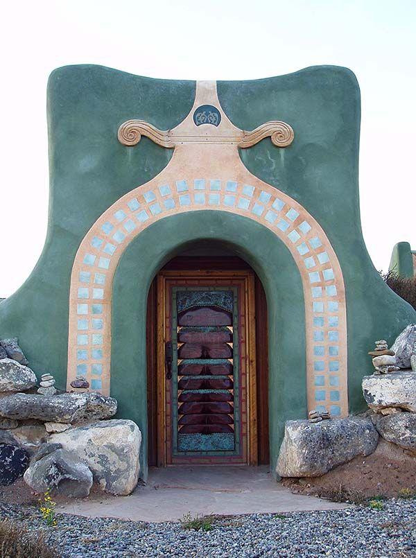 doorway to earthship