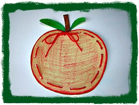 Fall Craft Apple Lacing Craft for Kids