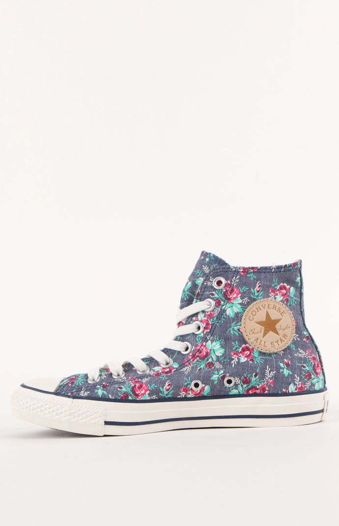 All Star Floral High Top Sneakers