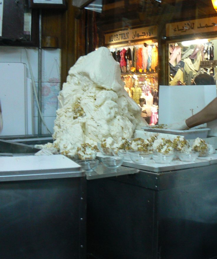 Nice chewy ice cream - Syria #Syria #Icecream