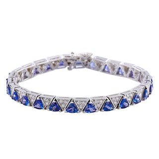 Shop for 14k White Gold 7-inch Tanzanite and Diamond Bracelet and more for everyday discount prices at Overstock.com - Your Online Jewelry Store!