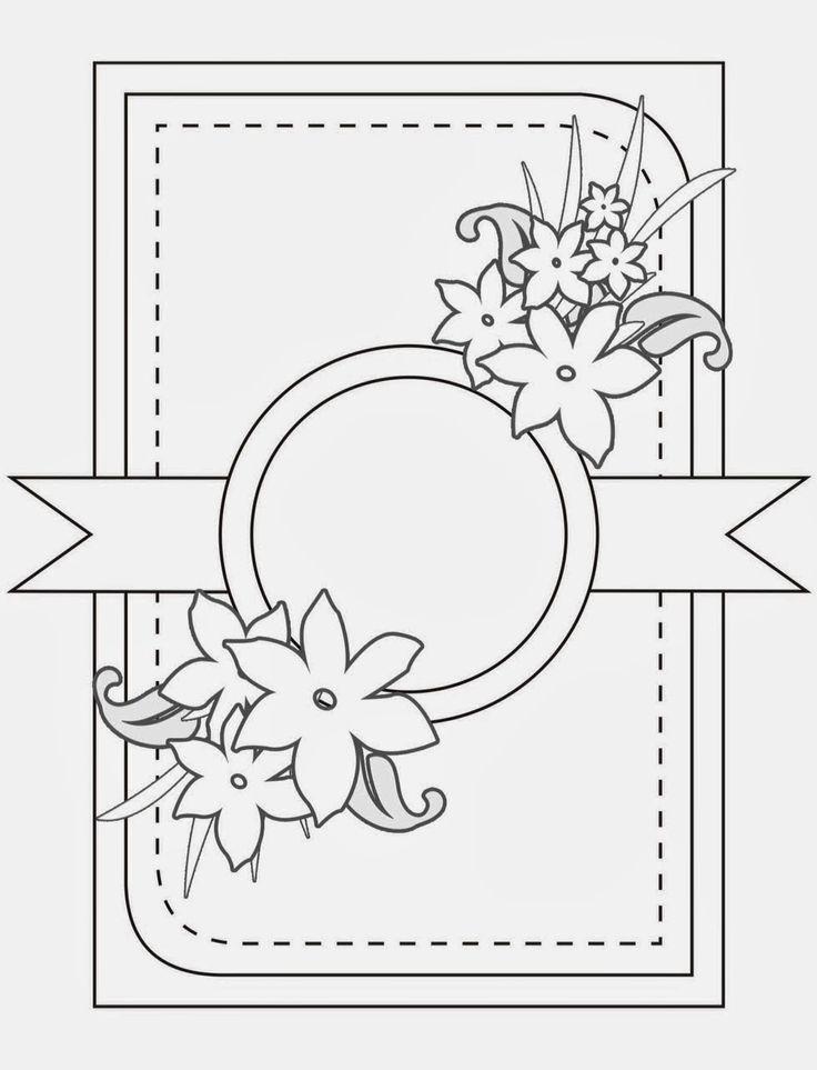 Приметы, рисунок шаблон для открытки