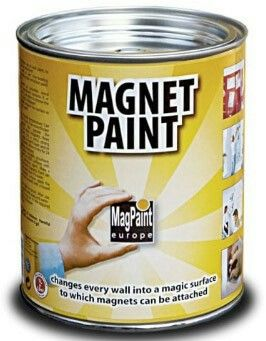 Magnetic paint - 1 litre costs £29.99 and covers 2 sq metres of wall