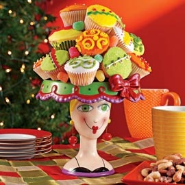Lady Cake Stand, Decorative Ceramic Cake Serving Dish | Solutions