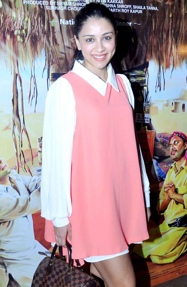Amrita Puri at the special screening of Filmistaan. #Style #Bollywood #Fashion #Beauty