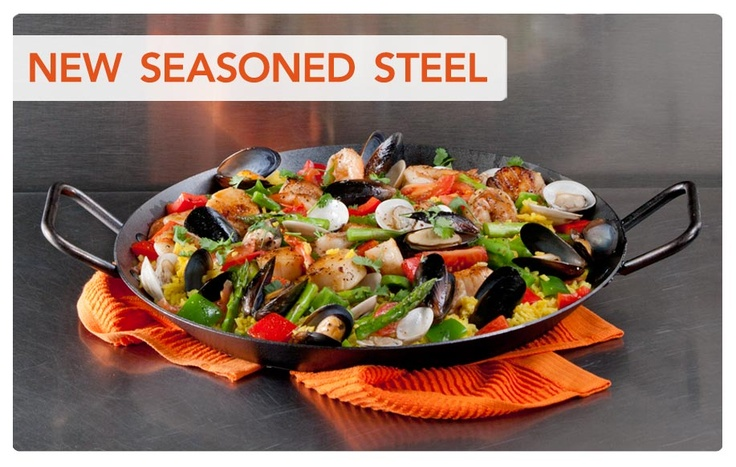 The new Lodge 15-inch Seasoned Carbon Steel Skillets are available at www.lodgemfg.com. They're for WAY more than Paella. Made in the USA, the 15-inch Skillet joins the line of 8, 10 and 12-inch Seasoned Carbon Steel Skillets!
