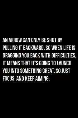 I love archery (not bc of hunger games) and I live quotes about it too!