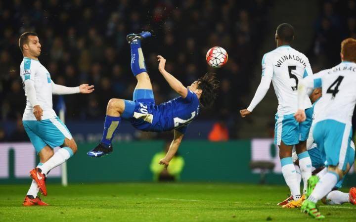 Leicester dig in after Shinji Okazaki's stunning overhead...: Leicester dig in after Shinji Okazaki's stunning… #Leicester #LeicesterCity
