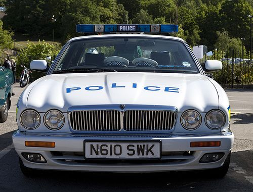 Jaguar X300 XJ6 Police Car by 5DII, via Flickr