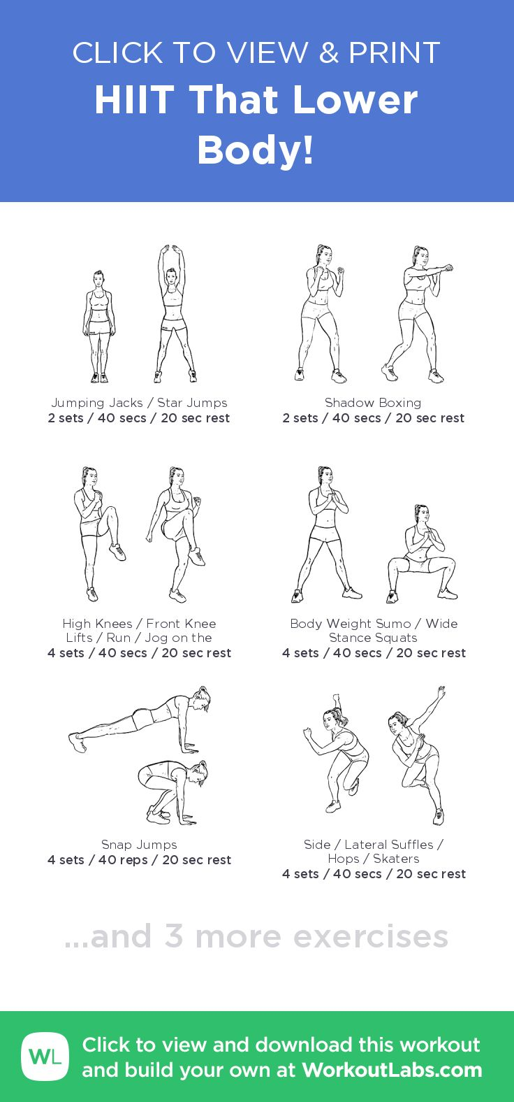 HIIT That Lower Body! click to view and print this