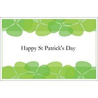 Free Avery® Templates - Clover Border Greeting Card, 1 per sheet, St. Patrick's Day