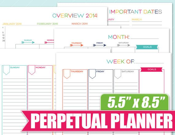 88 best The Nifty Studio on Etsy Printable Planners and Planner - sample weekly agenda