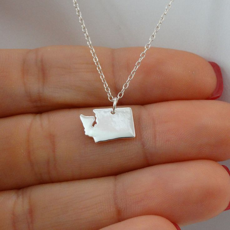 47 best us state jewelry fashionjunkie4life images on sterling silver washington state charm necklace aloadofball Gallery
