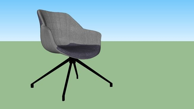 Large preview of 3D Model of Zuiver stoel, Doulton grey