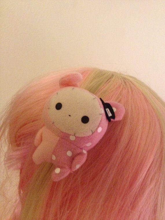 Sentimental Circus Rabbit Shappo Toy Hair Barrette by zefora, $11.00