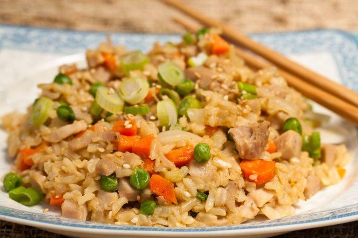 Pork (turkey, chicken or shrimp) fried rice.
