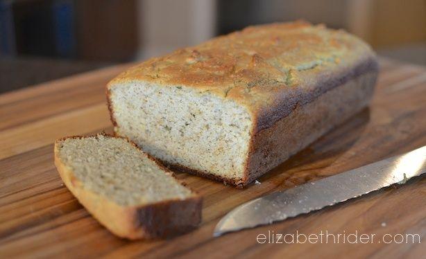 Almond Flour Bread Recipe by Elizabeth Rider. Get more healthy recipes at www.elizabethrider.com