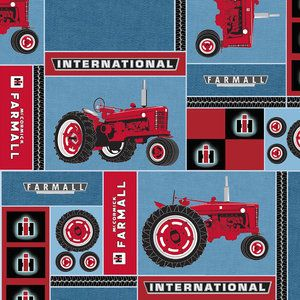 VIP Fabrics International Harvester Novelty Fabric. Probably going to use this for baby boys room.