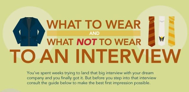 If you are at a loss as to what you are supposed to wear to your interview for a potential interview or job, you should check out this handy infographic put together by the Career Services Team at Rasmussen College.