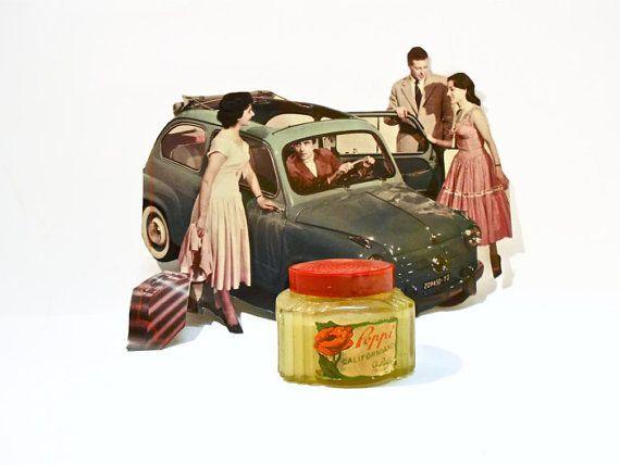 rock'n roll vintage antico vaso di brillantina originale-gel capelli 1950