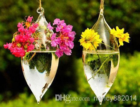 капля воды моды 18x8CM 1шт, висели стеклянные вазы ручной работы сочные террариум домашнего