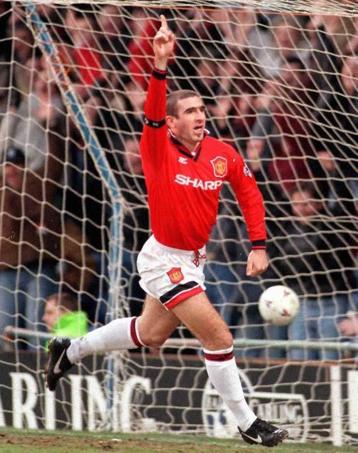 Eric Cantona of Man Utd in 1995.