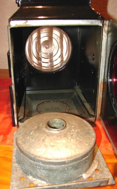 Big vintage SARS Red/White light Lantern